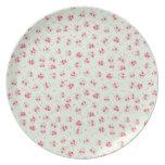 Flores color de rosa elegantes lamentables florale platos