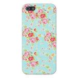 Flores color de rosa lamentables azules de los ros iPhone 5 cárcasas