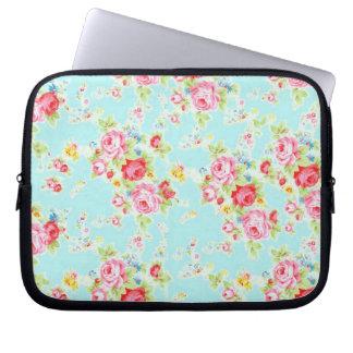 Flores color de rosa lamentables azules de los ros manga portátil