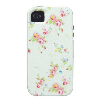 Flores color de rosa lamentables florales elegante iPhone 4/4S funda
