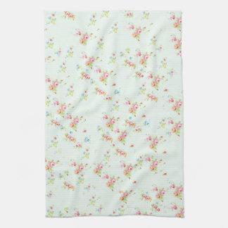 Flores color de rosa lamentables florales elegante toalla de mano
