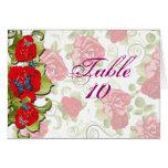 Flores color de rosa que casan la tarjeta del asie