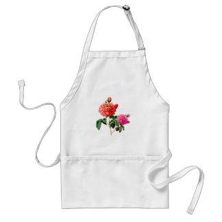 flores color de rosa rojas y rosadas del vintage delantales