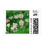 Flores color de rosa rosadas de Van Gogh, todavía Sello