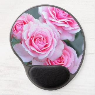 Flores color de rosa rosados alfombrilla con gel