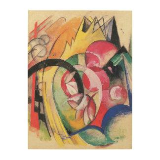 Flores coloreadas (aka formas abstractas) por impresiones en madera