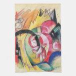 Flores coloreadas (formas abstractas) por Franz Ma Toalla De Mano