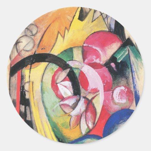 Flores coloreadas (formas abstractas) por Franz Ma Pegatinas