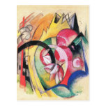 Flores coloreadas (formas abstractas) por Franz Ma Tarjeta Postal