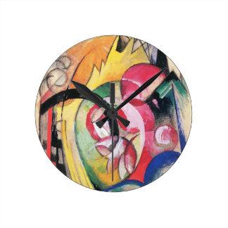 Flores coloreadas (formas abstractas) por Franz Relojes De Pared