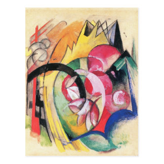 Flores coloreadas (formas abstractas) por Franz Tarjeta Postal
