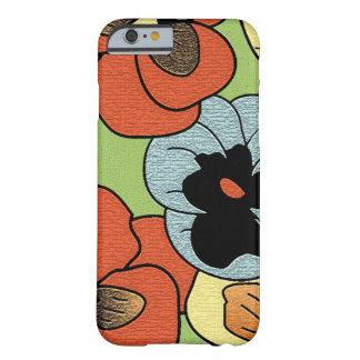 Flores coloreadas multi abstractas del pensamiento funda barely there iPhone 6