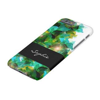 flores coloridas abstractas con la raya para el funda de iPhone 6 barely there