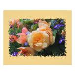 Flores coloridas bonitas tarjetón