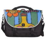 Flores coloridas brillantes bolsas de ordenador