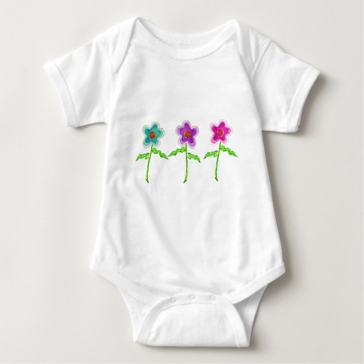 Flores coloridas camisetas