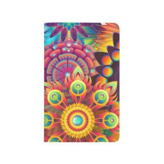Flores coloridas cuaderno