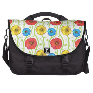 Flores coloridas de la primavera bolsa para ordenador