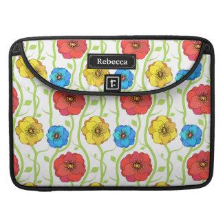 Flores coloridas de la primavera fundas para macbook pro