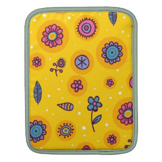 flores coloridas del dibujo animado del lindo-inco manga de iPad