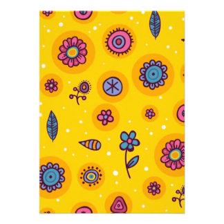 flores coloridas del dibujo animado del lindo-inco comunicados