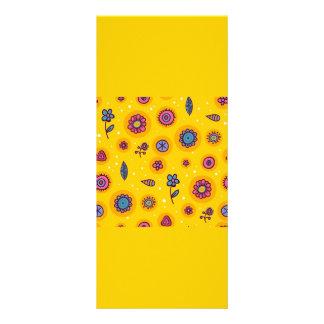 flores coloridas del dibujo animado del lindo-inco diseños de tarjetas publicitarias