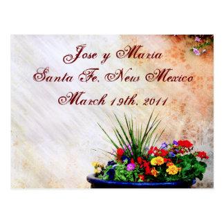 Flores coloridas del sudoeste tarjeta postal