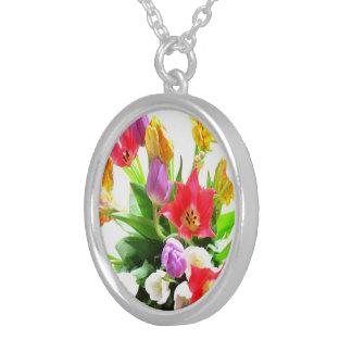 Flores coloridas del tulipán colgante redondo