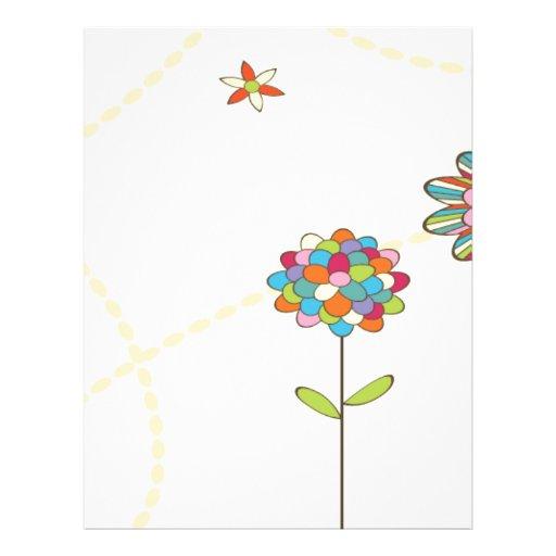 flores coloridas del verano tarjetas informativas