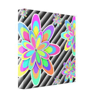 Flores coloridas femeninas impresion en lona