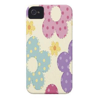 Flores coloridas iPhone 4 Case-Mate cárcasa