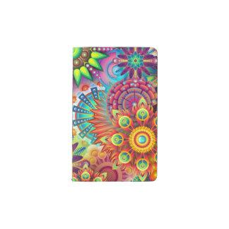 Flores coloridas libreta de bolsillo moleskine