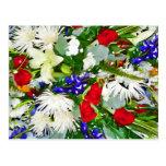 Flores coloridas postal