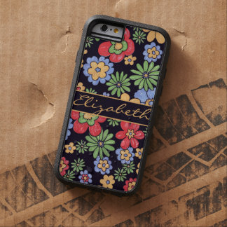 Flores coloridas vivas de encargo a personalizar funda de iPhone 6 tough xtreme