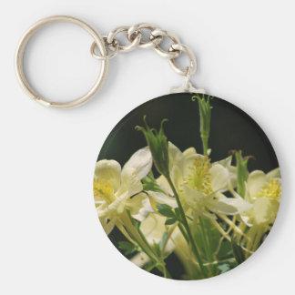 Flores columbine amarillas llaveros personalizados