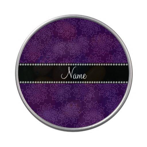 Flores complejas púrpuras conocidas personalizadas jarrones de dulces