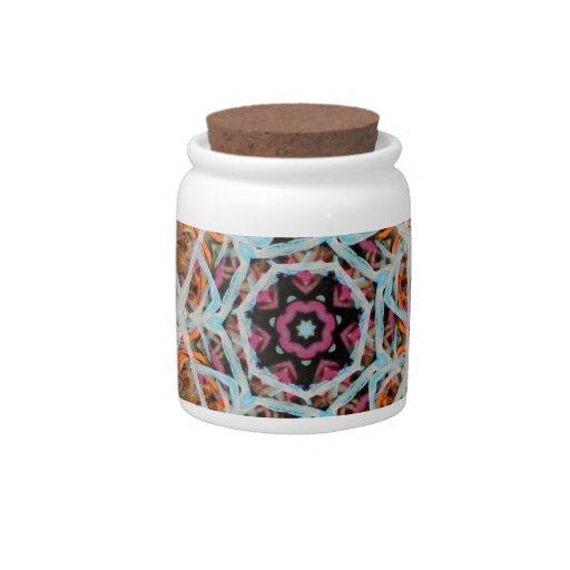 Flores con colores noviembre de 2012 tropical tarro de cerámica para dulces