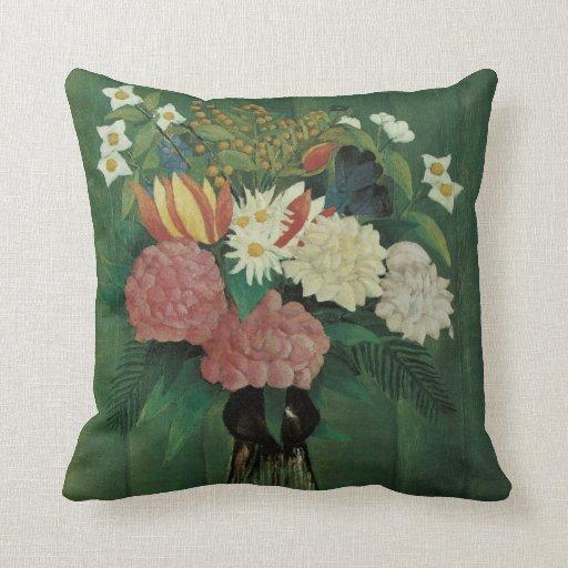 Flores con la hiedra de Henri Rousseau, vintage Cojin