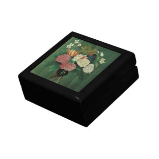 Flores con la hiedra de Henri Rousseau, vintage Caja De Joyas