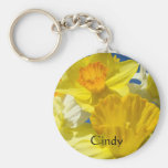 Flores conocidas de encargo del narciso del amaril llavero personalizado