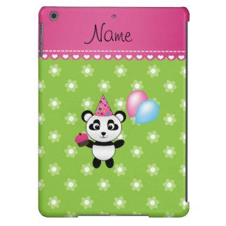 Flores conocidas de encargo del verde de la panda funda para iPad air
