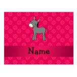 Flores conocidas personalizadas del rosa del burro postales