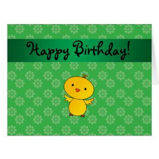 Flores conocidas personalizadas del verde del tarjeta de felicitación grande