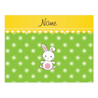 Flores conocidas personalizadas del verde del tarjetas postales