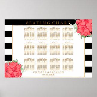 Flores coralinas de la acuarela - carta del póster