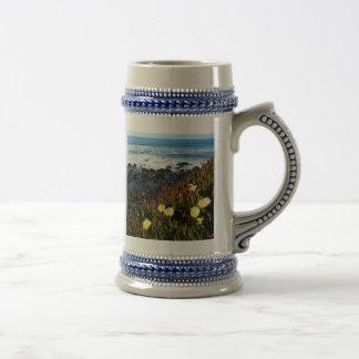 Flores costeras taza de café