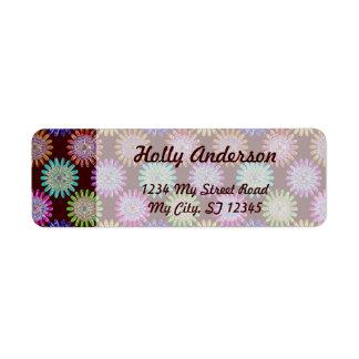 Flores cristalinas de cristal sopladas mano del etiqueta de remitente
