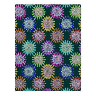 Flores cristalinas de cristal sopladas mano del tarjetas postales