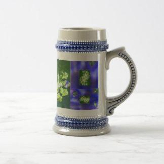Flores cristalinas taza de café