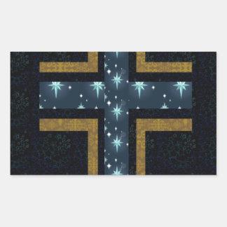 Flores cristianas de la cruz del verde del caso